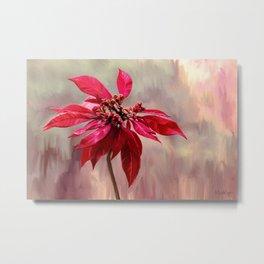 Poinsettia Painting Metal Print