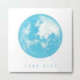 Luna Azul Metal Print