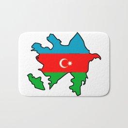 Azerbaijan Map with Azeri Azerbaijani Flag Bath Mat