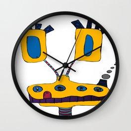 yellow submarine giraffe Wall Clock