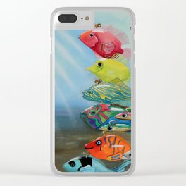 All Wound Up Clear iPhone Case