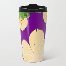 Purple Japanese Floral Vintage Pattern Travel Mug