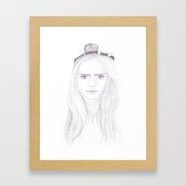 Cara Delevingne inspired portrait Framed Art Print