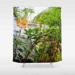 Dreamy Mexican Trumpets Shower Curtain