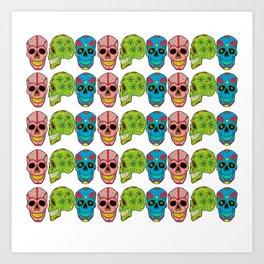 RAINBOW SKULLS Art Print