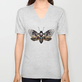 Skull moth  Unisex V-Neck