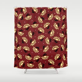 Ethnic flowers Shower Curtain
