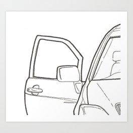 Car Door Art Print