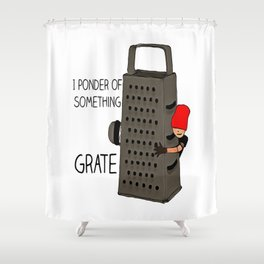 grate Shower Curtain