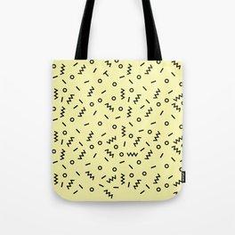 Retro Eighties Inspired Repated Pattern Design Tote Bag