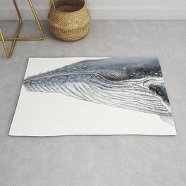 Humpback whale portrait Rug