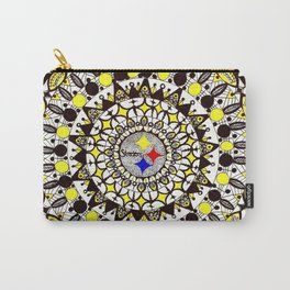 Football Gold and Black Mandala Carry-All Pouch