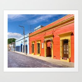 Colorful Mexico - The Colonial Streets of Oaxaca Art Print