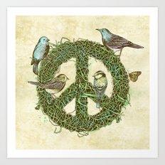 Peace Talks Art Print