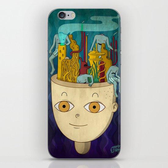 Mundo de cabeza iPhone & iPod Skin