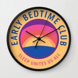 Early Bedtime Club Wall Clock