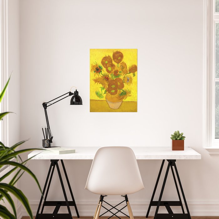 Vincent Van Gogh Fifteen Sunflowers In A Vase Poster By Artgallery