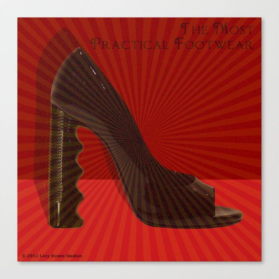 The Most Practical Footwear Canvas Print