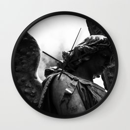 Between Darkness and Light Wall Clock