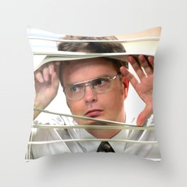 The Of-fice TV Show - Dwi-ght Schrute Print - Digital Oil Painting, Comedy, Classic, Sitcom, Funny, Series Throw Pillow