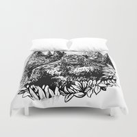 sasquatch Duvet Covers featuring PACIFIC NORTHWEST SASQUATCH by RAPIDPUNCHES