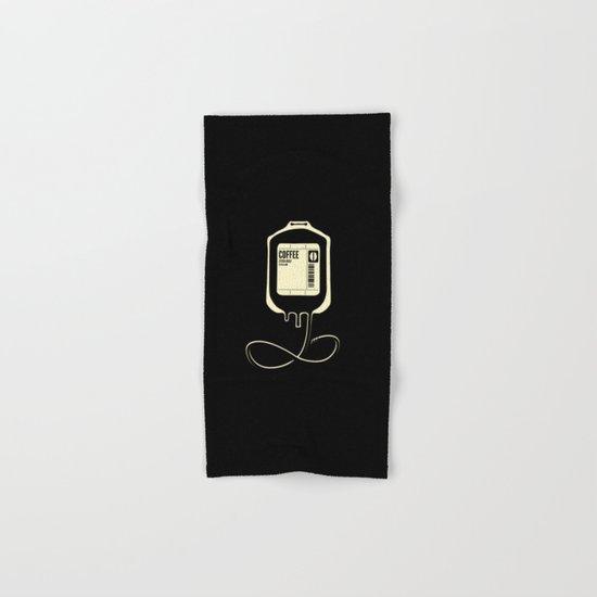 Coffee Transfusion - Black Hand & Bath Towel