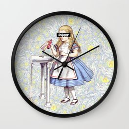 Trippy Alice Wall Clock