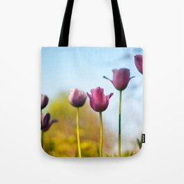Purple tulips Tote Bag