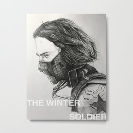The Winter Soldier (sketch) Metal Print