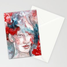 Changes, mixed media artwork Stationery Cards