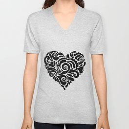Heart Doddle Unisex V-Neck