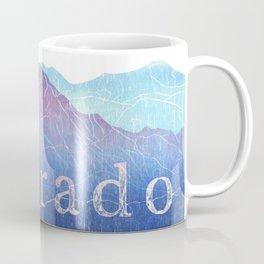 Colorado Mountain Ranges_Pikes Peak + Continental Divide Coffee Mug