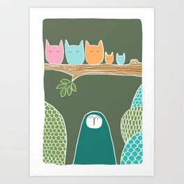 Sleepy Birds Art Print