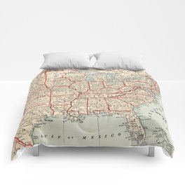 Vintage Map of The United States (1893) Comforters