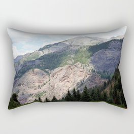 View from the Road to Red Mountain Pass Rectangular Pillow