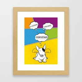 Awesome Bull Terrier Framed Art Print