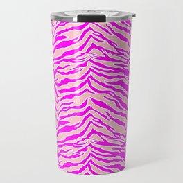 Tiger Print - Pink & Pink Travel Mug