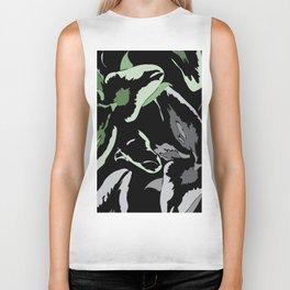 FLORAL ABSTRACTION Biker Tank