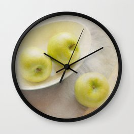 Painterly Apples Wall Clock