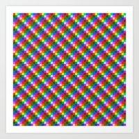 Pixel Static Art Print
