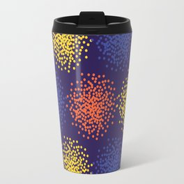 Abstract colorful dotted background Travel Mug