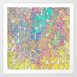 Pastel Abstract Blocks Art Print