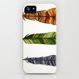 Feather Trio iPhone Case
