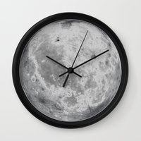 titan Wall Clocks featuring Titan #5 by Tobias Bowman