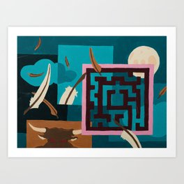 Labyrinth (Night) Art Print