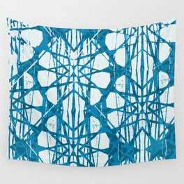 Blue and White Batik  Wall Tapestry
