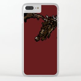 Skyrim Fire Breathing Dragon Clear iPhone Case