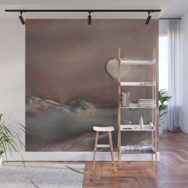 Moon Glow over Mountains Wall Mural