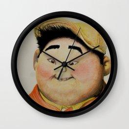 Russel Watercolor Portrait Wall Clock