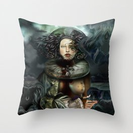 """Returning from a Dream Myth Creature"" Throw Pillow"